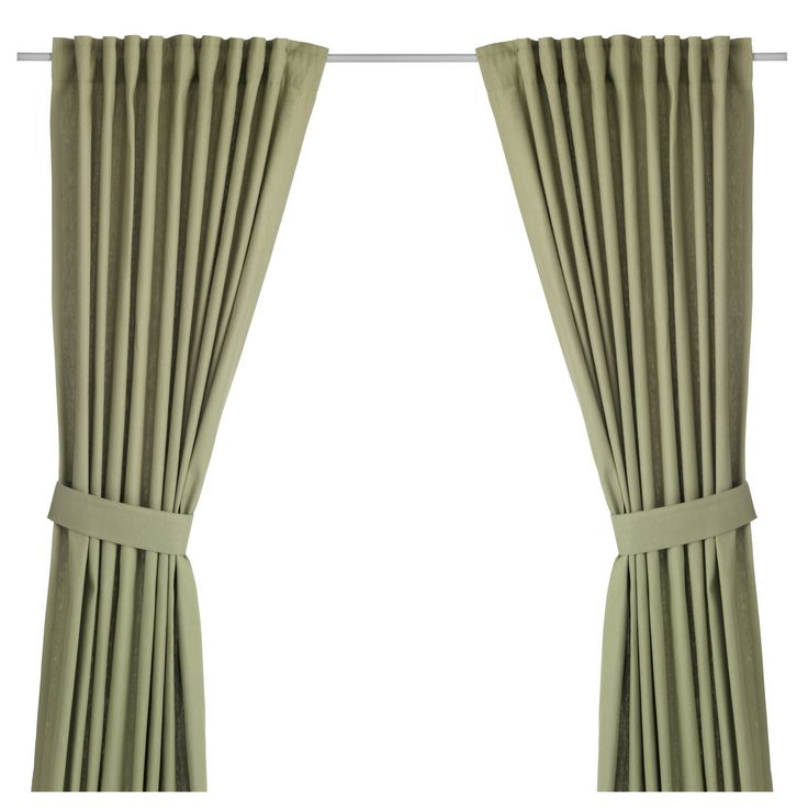 IKEA - INGERT, Curtains with tie-backs, 1 pair, 145x250 cm, , The curtains lower the general light level and provide privacy by preventing people outside from seeing directly into the room.The curtains can be used on a curtain rod or a curtain track.The heading tape makes it easy for you to create pleats using RIKTIG curtain hooks.You can hang the curtains on a curtain rod through the hidden tabs or with rings and hooks.