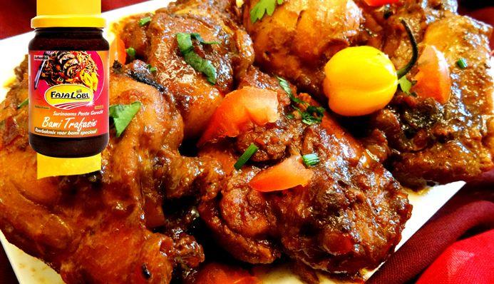 Surinaams eten – Gestoofde ketjap kip