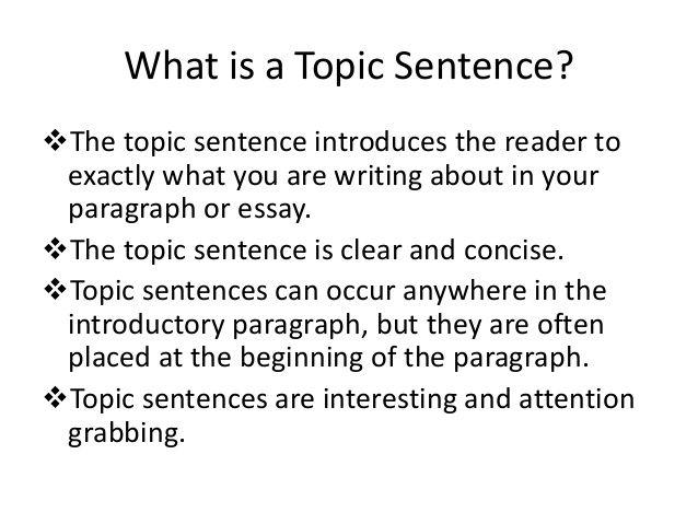 Topic Sentence Jpg 638 479 Starter Examples Argumentative Essay Example Persuasive