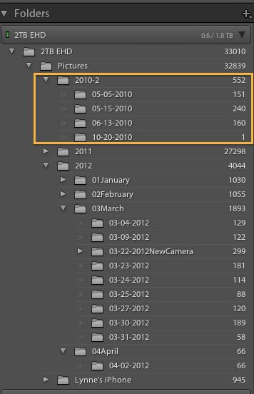 organizing in lightroom by Lynne Rigby