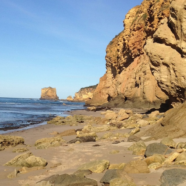 Rock formations at Airey's Inlet near Geelong, Australia