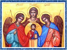 En el nombre del Padre, Creador del universo, en nombre de la Divina Misericordia de Dios, invoco a los tres Arcángeles de los Cielo...