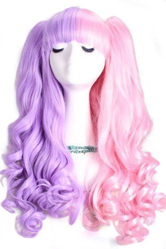 L-email 50-60cm Pink Long Lolita Clip on Ponytails Wavy Cosplay Hair Wig C22-d by L-email. $37.97. wig length :50cm-60cm Ponytail length:45cm/29.53inch G.W.:690g Material: heat-resistant fiber  Color:D: pink Package incluldes: 1X Wig