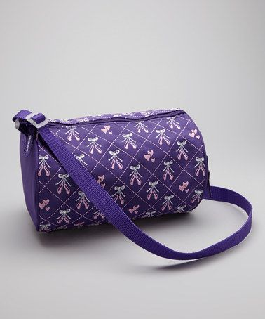 Purple Embroidered Ballet Shoe Duffel Bag by Horizon Dance on #zulily today!