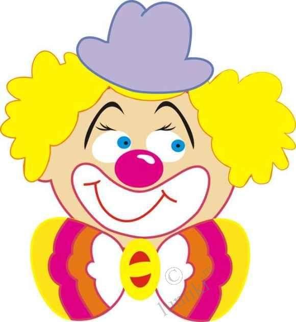 Картинка веселого клоуна для детей