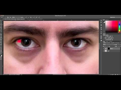 Aclarar ojos y blanqueamiento de dientes en Photoshop - muy bueno