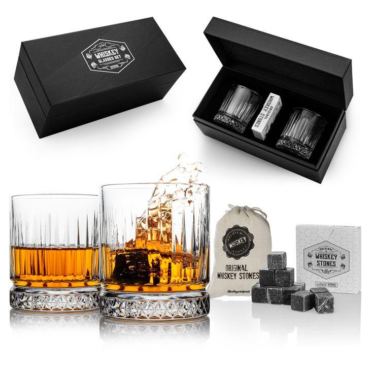 Glasgow whiskey set gift for him on birthday whisky