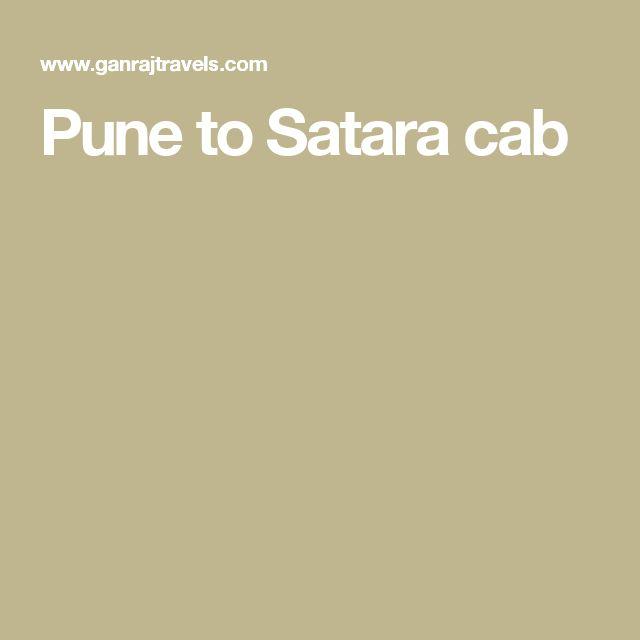 Pune to Satara cab