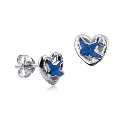 Earrings - I HEART BLUEBIRDS - Sterling Silver