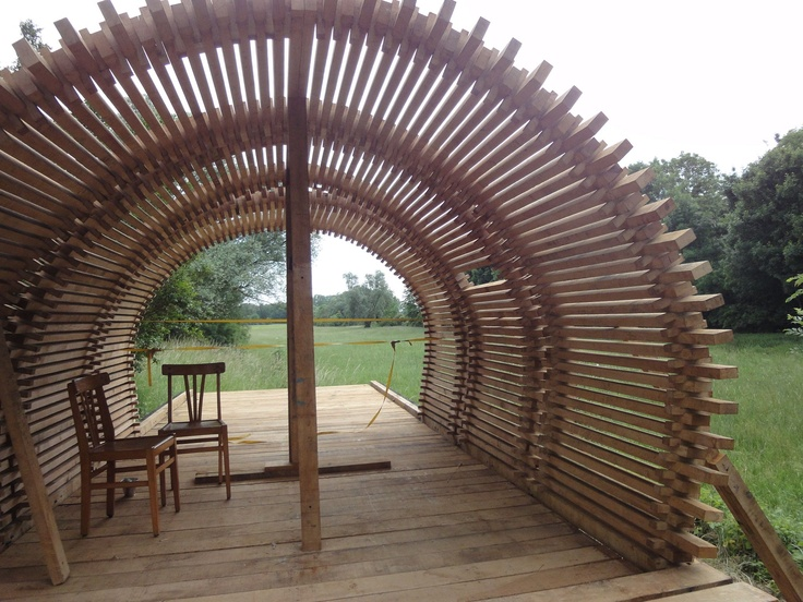 aok wood structure designed for archi<20 festival in France