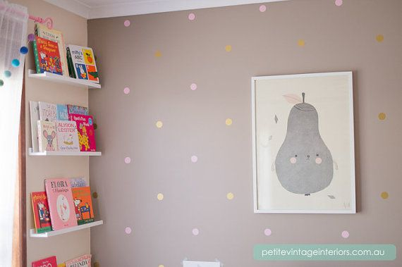 Vinyl Wall Sticker Decal gold and pink?  Art Small Polka Dots by urbanwalls