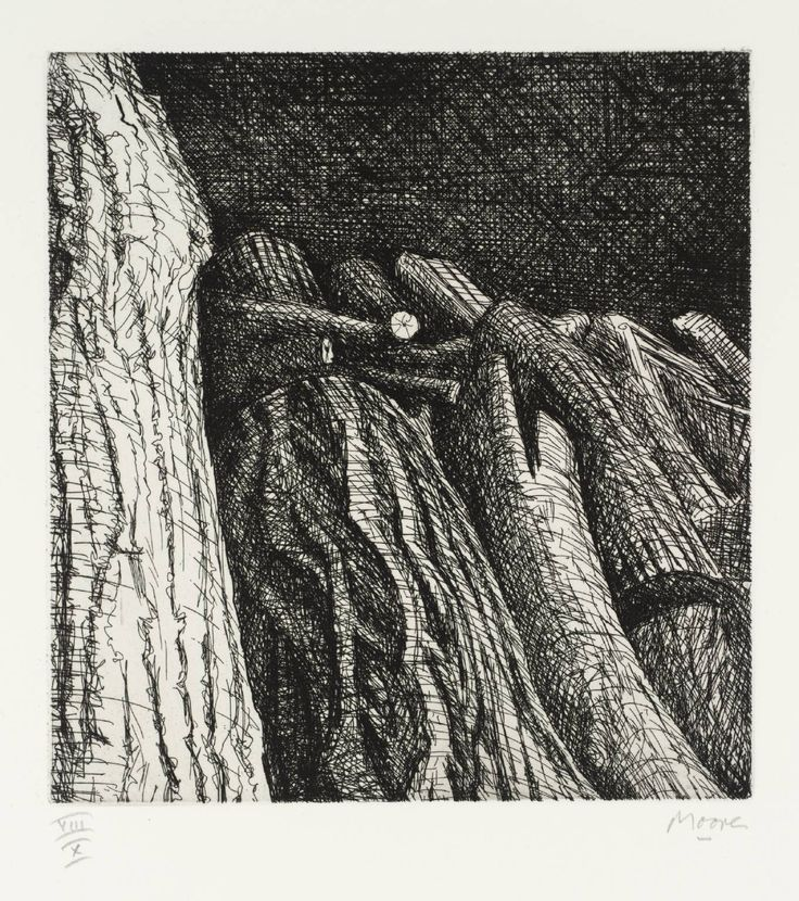 Henry Moore OM, CH 'Log Pile II', 1972–4 © The Henry Moore Foundation, All Rights Reserved, DACS 2014
