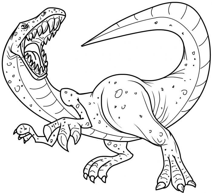 Dinosaur Coloring Pages Getcoloringpages Animal 1766 X 1604 Kju