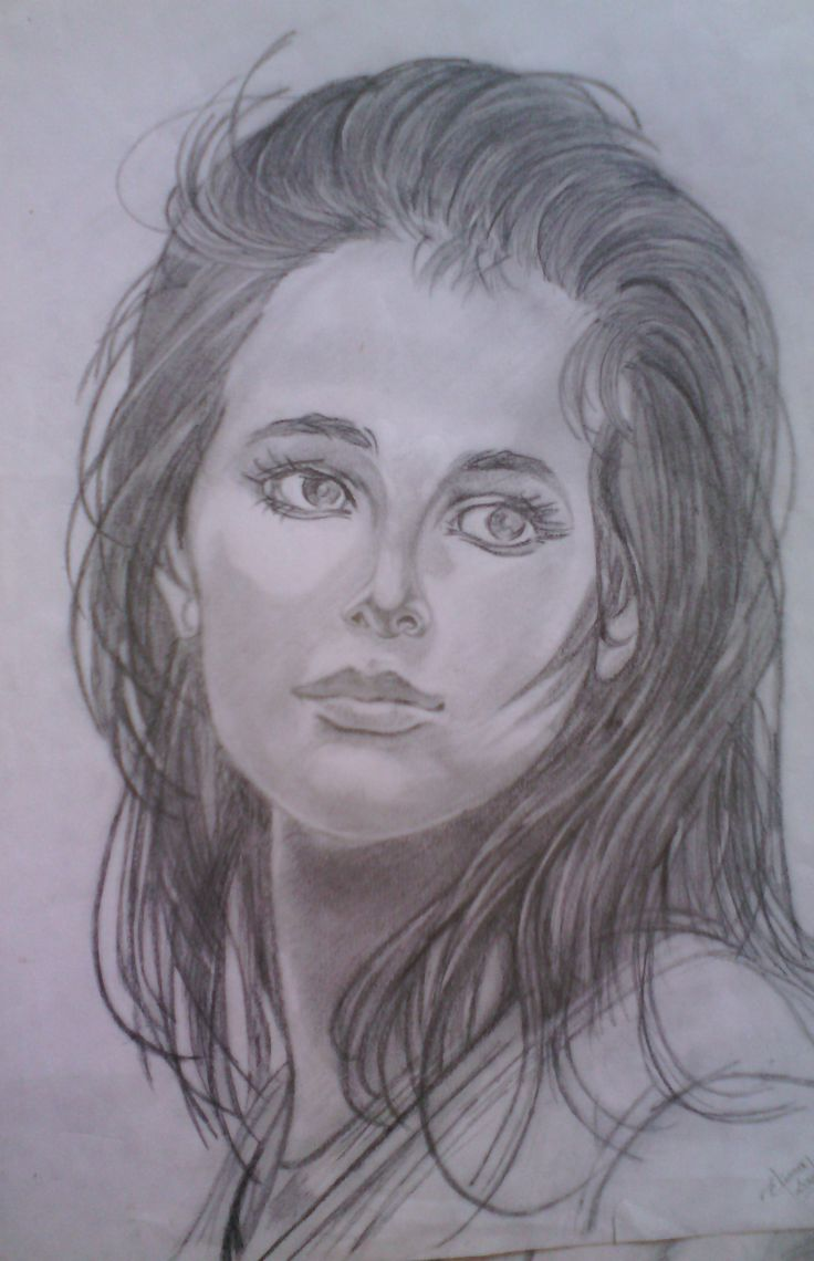 First steps, portrait drawing.