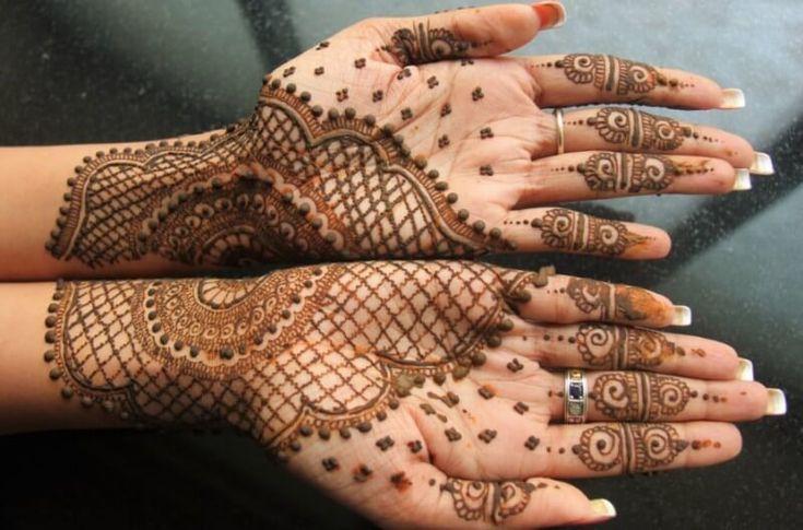 Henna Telapak Tangan Kombinasi Tato Henna Henna Tangan Desain Henna