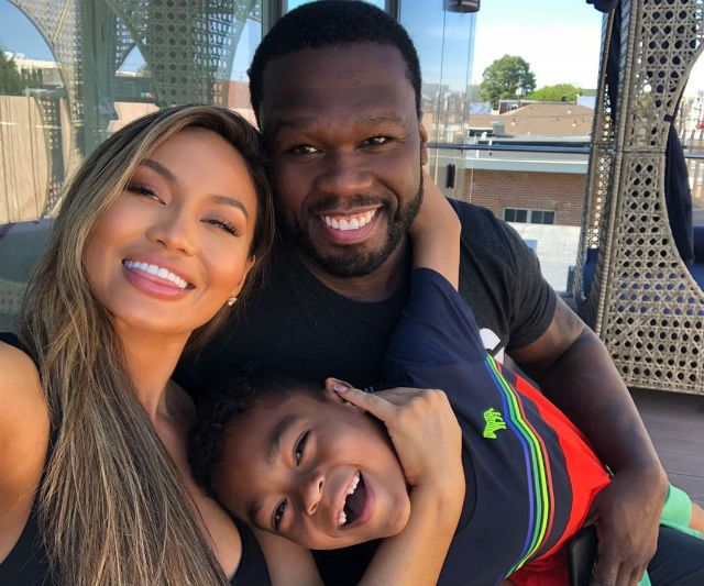 50 Cent Son And Ex Girlfriend Daphne Joy Pose In Family Photo Daphne Joy 50 Cent Ex Girlfriends