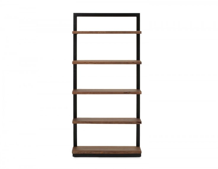 Storage gets a serious injection of style with the Pacifica bookcase. Natural shelves made from slabs of FSC-certified solid acacia wood offer solid support in an iron frame with black powder-coated finish.  Hand brushed and hand polished, this bookshelf showcases knots and natural imperfections, making every one subtly one of a kind. The mix of wood and metal makes this rustic-industrial bookshelf,  handcrafted by local artisans in India using age-old techniques, an upscale addition to…