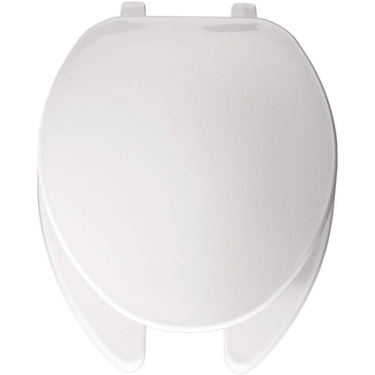 Bemis 175 Elongated Commercial Plastic Open Front Toilet Seat with Top-Tite® White Accessory Toilet Seat Elongated