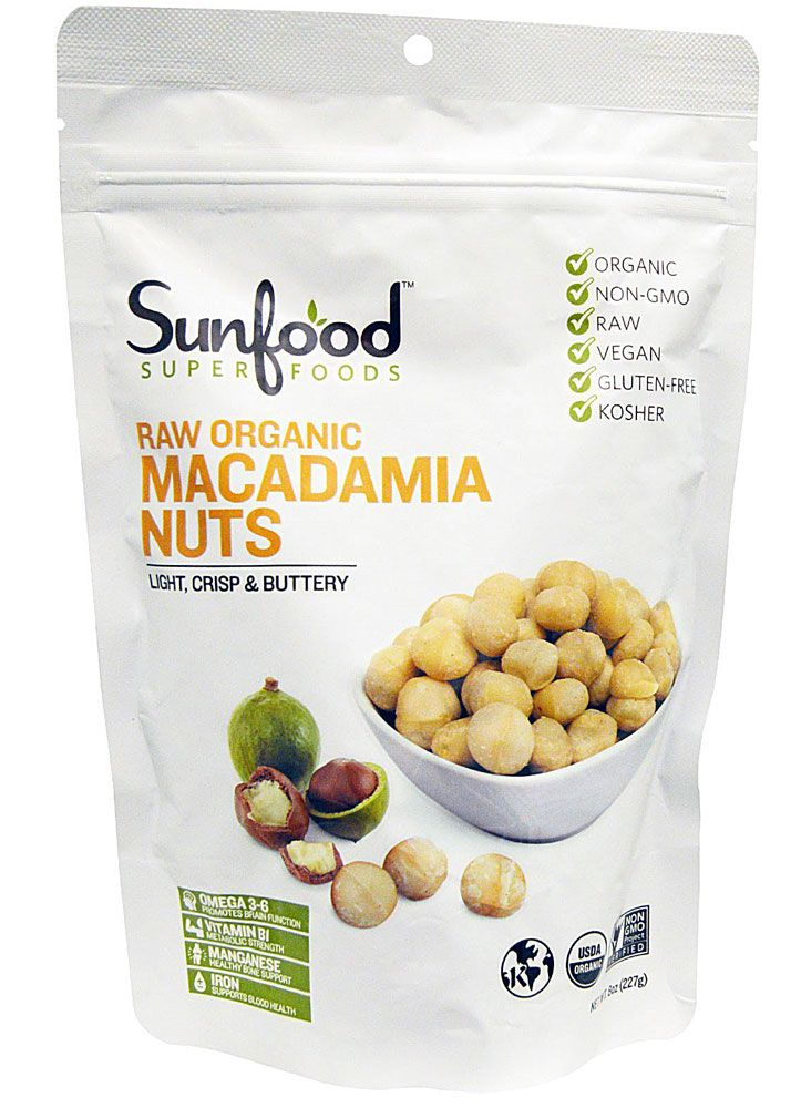 Sunfood Raw Organic Macadamia Nuts 8 Oz Raw Organic Macadamia Nuts Macadamia
