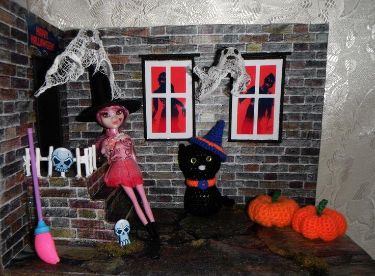 хэллоуин румбок кот ведьма тыква игрушки вязаные амигуруми дракулаура монстер хай