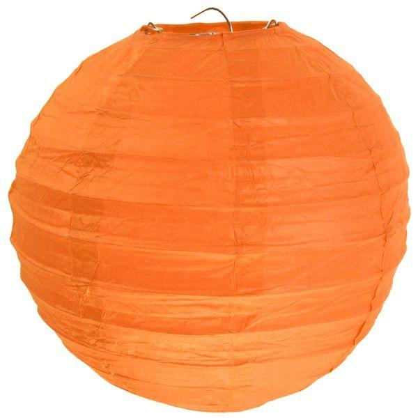 Boule en papier lampion Orange 50 cm