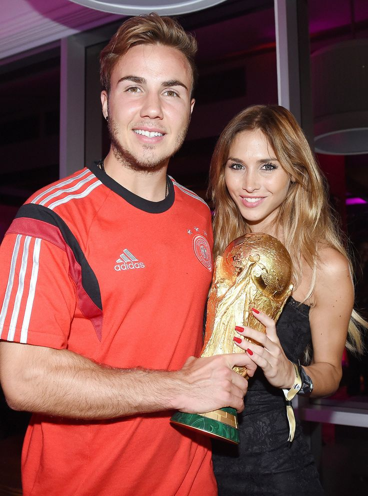 Mario Götze celebrated his World Cup win with his girlfriend, Ann-Kathrin Brommel
