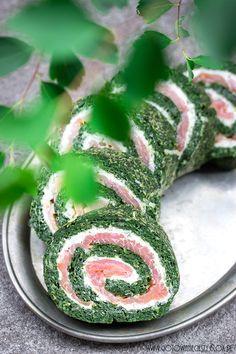 Rolada szpinakowa z łososiem - przepis