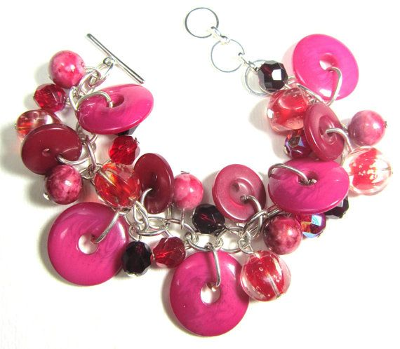 Big Bling Bracelet Chunky Bead Design by flirtyfashionjewelry