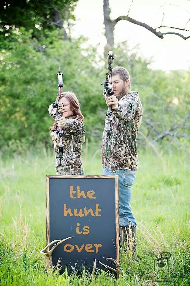 Save the date engagement pictures. The Hunt is Over  Photo by: Kim Weigel Photography