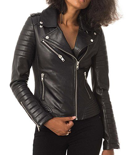 19ddc241d6b Womens Leather Jacket Stylish Motorcycle Biker Genuine Lambskin If you are  a lover of shopping and looking for what to buy! dare to think about leather  ...