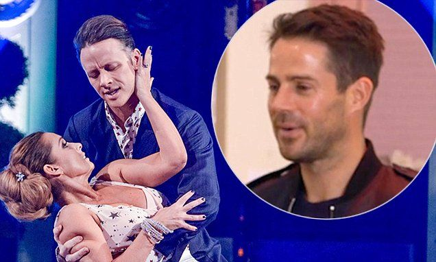 Jamie Redknapp helps wife Louise rehearse her waltz for Strictly
