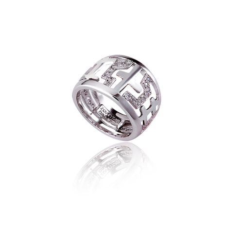 Entasis ring in 18KT white gold with diamonds