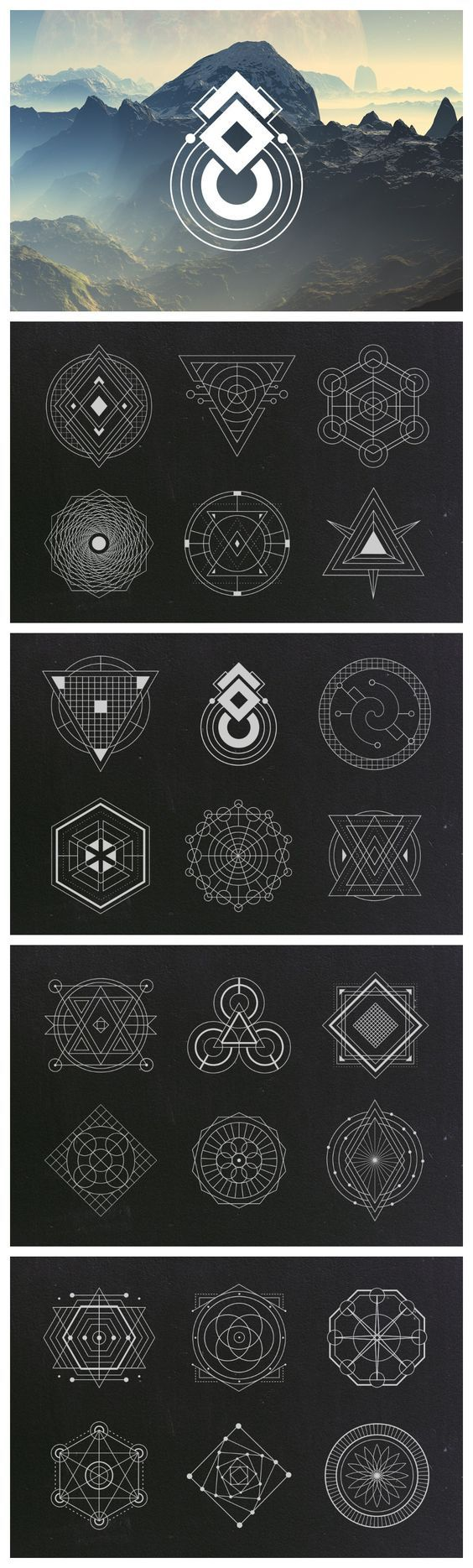 【200多种几何图形的组合形式】简单的三角... 来自优秀网页设计 - 微博