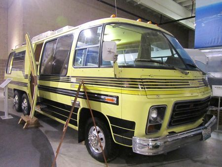 Built by GMC, 1973-78,it is the only complete motor home ever built by a major car/truck manufacturer. The 26-foot motor home was designed with a sleek, low profile, fiberglass body. It utilized the front-wheel drive transaxle from the Oldsmobile Toranado and the Cadillac Eldorado, and it had a V-8 engine. Almost 13,000 of the GMC motor homes were produced, and it is estimated 8-9,000 are still in running condition.