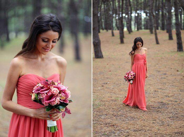 Magnifiques robes habillées pour mariage tenue chic femme robe rouge peche