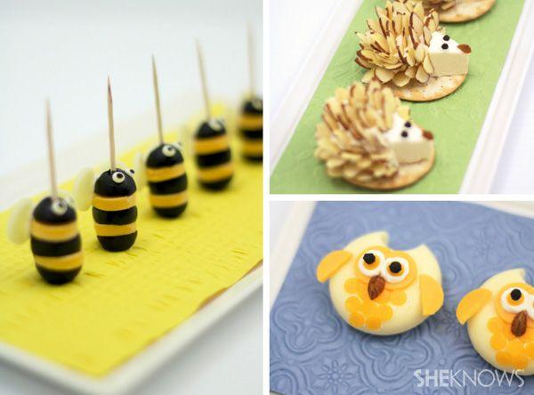 APERITIVOS DE QUESO para los niños (cheesy animal appetizers) #CocinaDivertida
