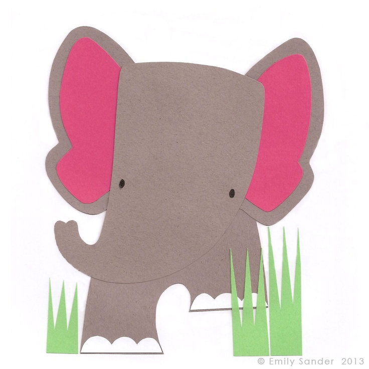 Little Elephant greeting card, new from Nugget Design Studio. Available at Etsy