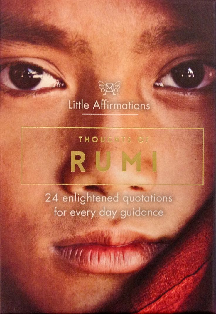 Rumi Affirmation cards - a perfect little gift.