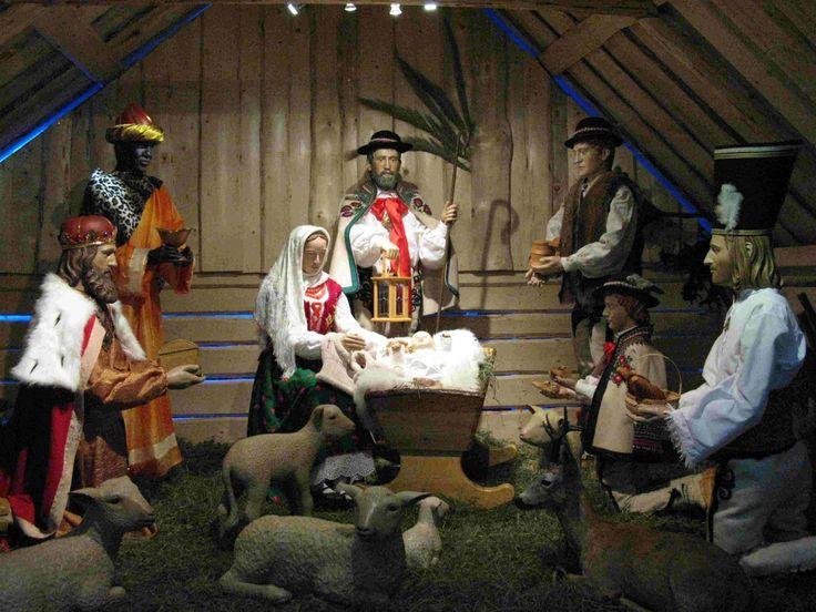 #szopka bożonarodzeniowa w Olczy - aranżacja