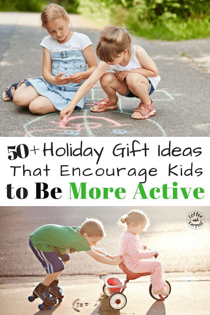 Need creative holiday gift ideas for kids that will encourage them to be more active, play outside, and burn off their energy? #holidaygiftguide #christmasgiftideas #kidschristmas #activekids