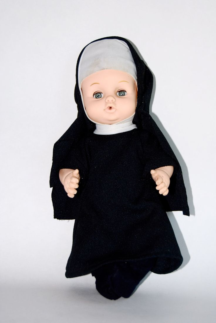 Vintage Baby Doll in Hand Crafted Nun Outfit by MilleBebe on Etsy https://www.etsy.com/listing/200462148/vintage-baby-doll-in-hand-crafted-nun