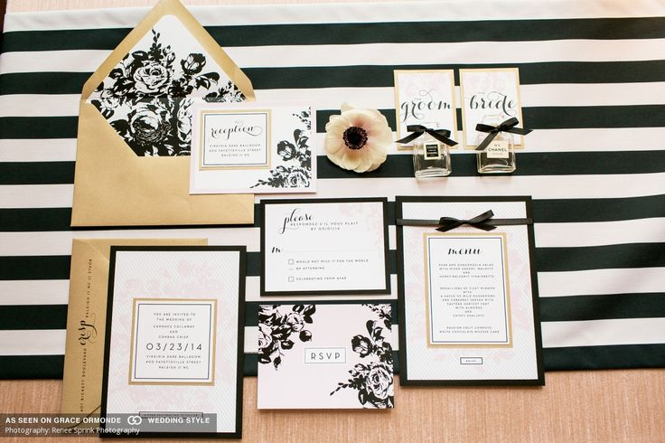 chanel inspired invitation suite
