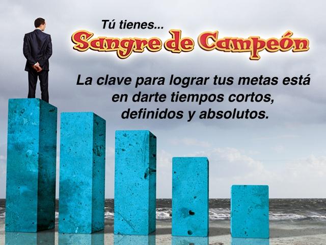 """""""La clave para lograr tus metas está en darte tiempos cortos, definidos y absolutos."""" Carlos Cuauhtémoc Sánchez"""