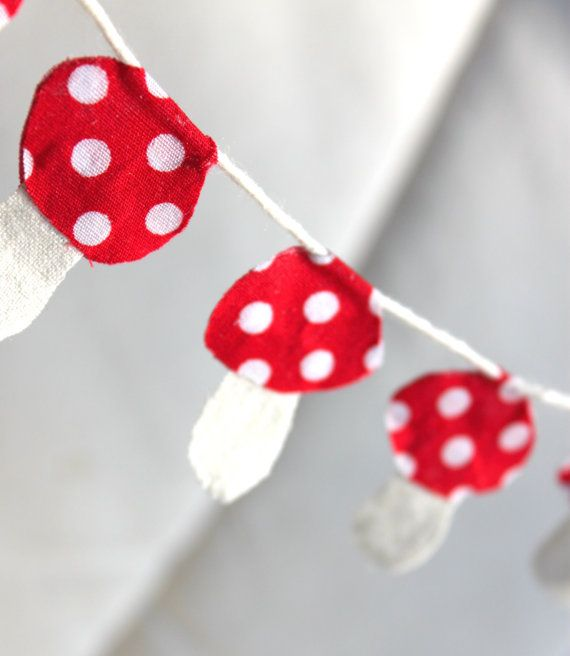 Cake Bunting  Woodland Party  Toadstool by mylittlebluedesigns, $6.00