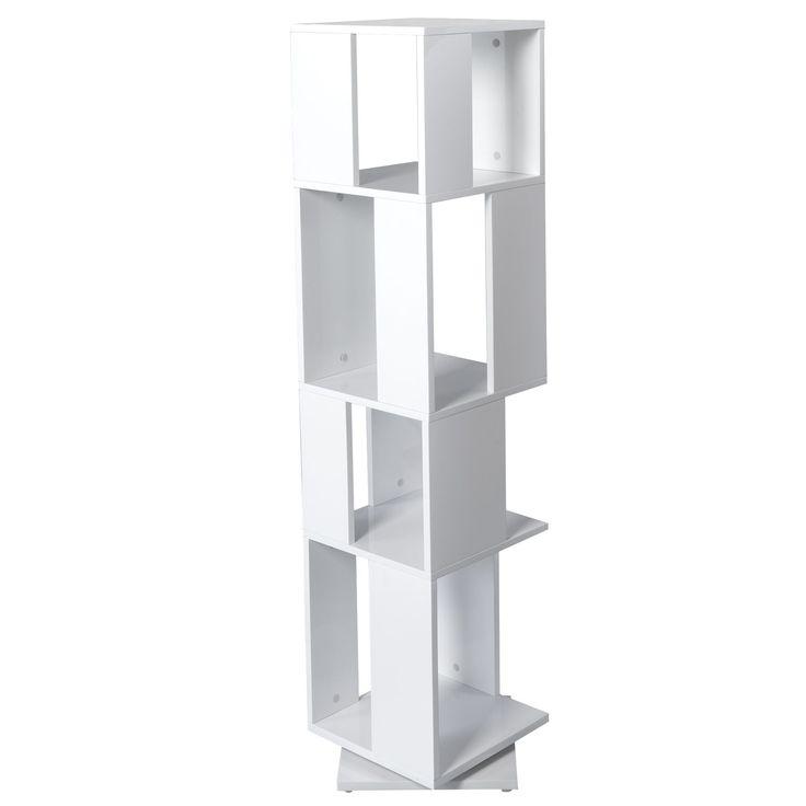 Étagère rotative 4 cases Blanc - Pix 2 - Bibliothèques et étagères - Tout pour le rangement - Décoration d'intérieur - Alinéa