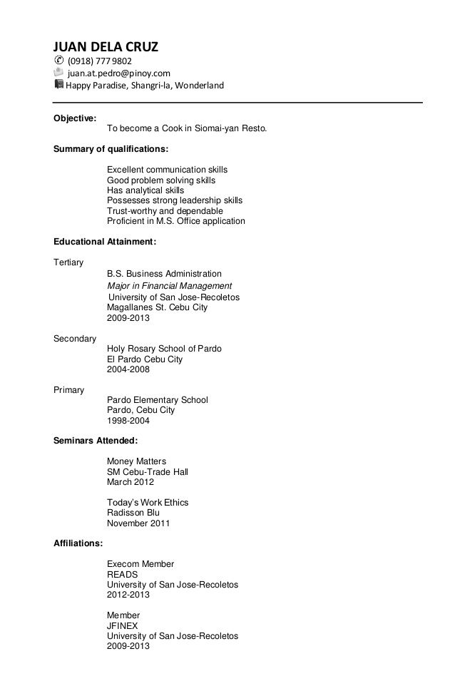 Resume Simple Format  Resume Format And Resume Maker