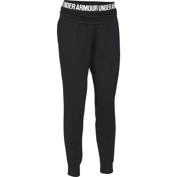 Under Armour Downtown Knit Jogger Pant ($53) ❤ liked on Polyvore featuring activewear, activewear pants, pants, bottoms, yoga activewear, under armour and under armour sportswear