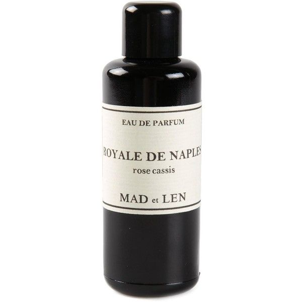 Mad Et Len 'Royale De Naples Rose Cassis' perfume ($190) ❤ liked on Polyvore featuring fillers, makeup, perfume, beauty and black
