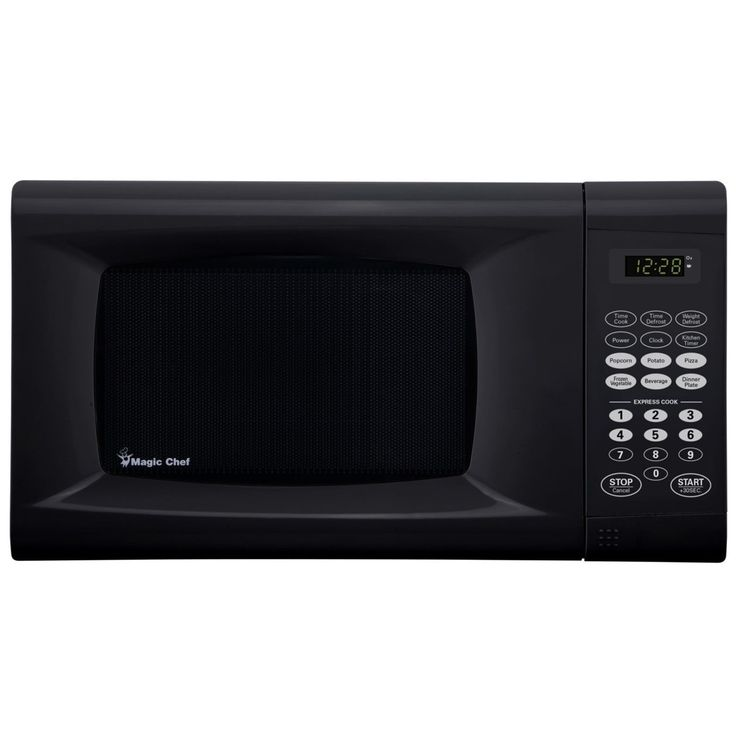 Magic Chef 0 9 Cu Ft Countertop Microwave Oven Black Size Med
