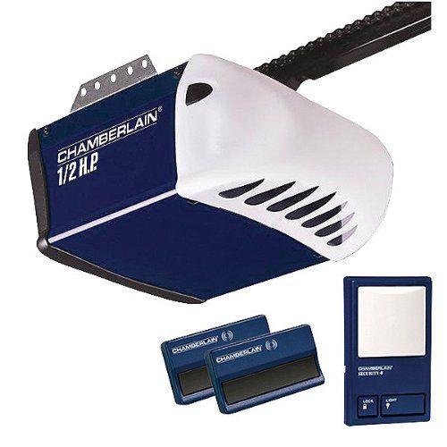 chamberlain pd212d 12 hp chain drive garage door opener 2 single button remotes